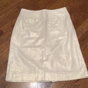 Banana Republic khaki & gold tone throughout skirt